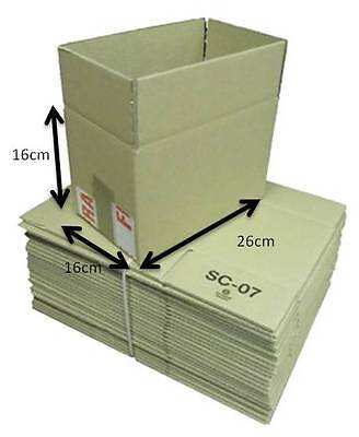 Pack of 100 Single Walled Cardboard Mailing Boxes Brown 16 x 16 x 26cm