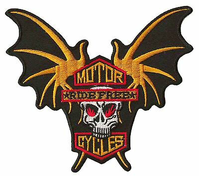 Patch écusson patche Motorcycles Ride free Harley brodé thermocollant