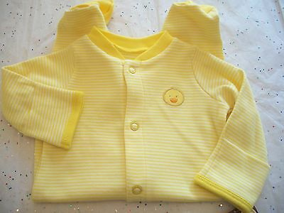CARTER'S BABY UNISEX OUTFIT GIRL OR BOY  FOOTED SLEEP AND PLAY DUCKS NWT