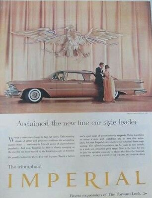 1958 Chrysler Imperial - Original Classic 10x13 Vintage Advertisement Ad LG1