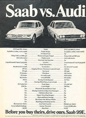 1973 Saab 99E - Before - Classic Vintage Advertisement Ad D157