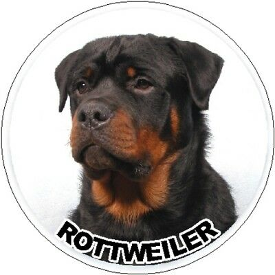2 Rottweiler Car Stickers By Starprint