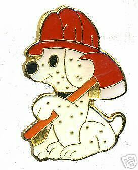 DALMATION FIRE PUPPY - Fun Firefighter - NEW LAPEL PIN