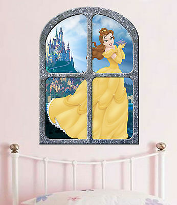 Disney princess   BELLE   BEAUTY and the BEAST   !!!  GIANT WINDOW VIEW POSTER