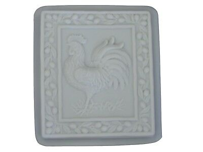 Large Rooster Concrete  Plaster Stepping Stone Mold 1038