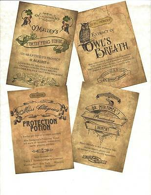 LOT OF~12 Vintage look LABELS~ Only for Witches ~primitive labels ~set # 3