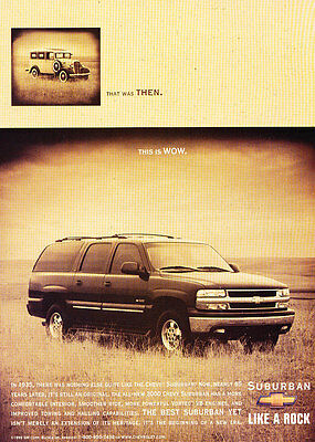 2000 Chevrolet Chevy Subruban - Wow - Classic Vintage Advertisement Ad D164