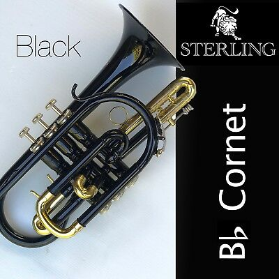 Sterling Bb CORNET • Dark Nickel Plate • With Case and Accessories • BRAND NEW •