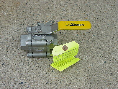 "Stainless Steel Ball Valve 1"" Sharp Valve Series 84/99 W/locking Bracket  New"