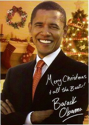 President Barrack Obama Christmas Greeting  Refrigerator  Magnet