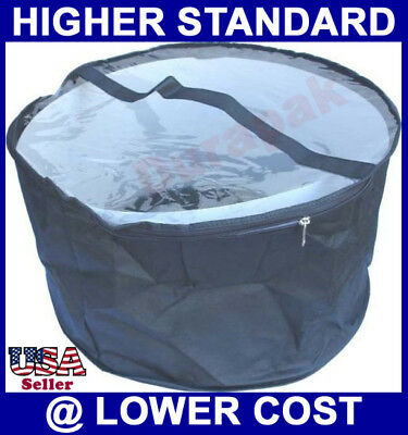 "50  19"" Diameter 11"" High Non Woven Clear Soft PVC View Top Hat Bag with Handle"