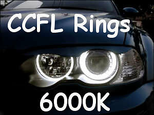 CCFL XENON ANGEL EYES HALO RINGS 6000K fit BMW E46 pre-facelift non-projectors
