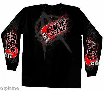 T-Shirt ML AGGRESSION RIDE - Taille XL - Style BIKER HARLEY