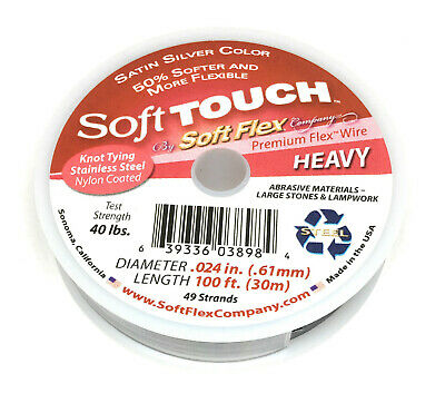 0.35mm FT351A Soft Touch Fine SoftFlex Wire .014 Length 100ft 21 Strands