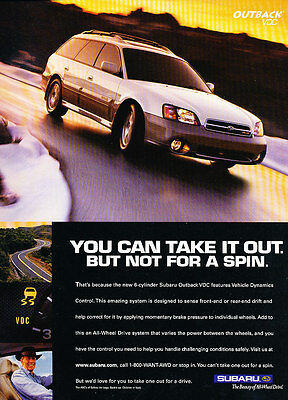 2000 Subaru Outback VDC - Spin - Classic Vintage Advertisement Ad D179