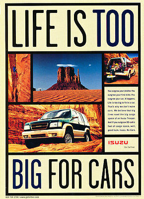 2000 Isuzu Trooper - Short - Classic Vintage Advertisement Ad D179