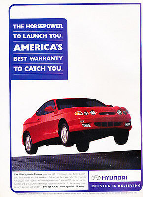 2000 Hyundai Tiburon - Launch - Classic Vintage Advertisement Ad D178