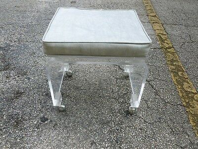 Mod Space Age 70'S Lucite Bench