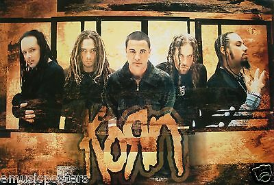 "Korn ""group Shot Over Logo"" Poster From Asia"