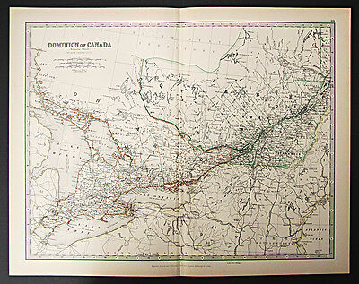 1888 Royal Atlas map - Dominion of Canada (Western Sheet)