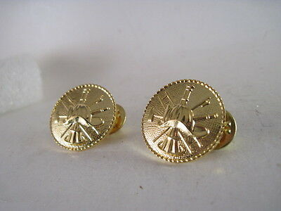 Fire  Dept    pin  Pair  gold plated   (59 24)