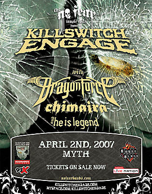 Killswitch Engage/ Dragonforce 2007 Concert Tour Poster