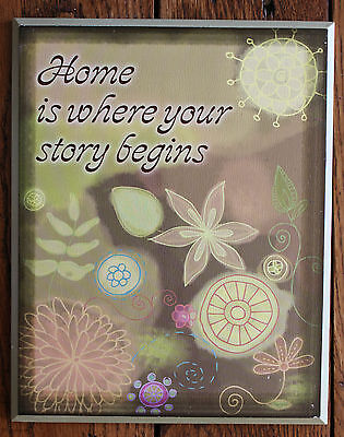 BLACK WOOD WALL Words Home Is Where Your Story Begins Wall Decor - Inspirational words for new home