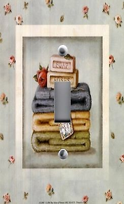 Light Switch Plate Outlet Covers BATHROOM DECOR ~ SOAP & FOLDED TOWELS AUDIT