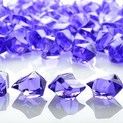 Purple Acrylic Ice Cube Stones Approx 90Pcs Nuggets/pebbles Decoration Fancy
