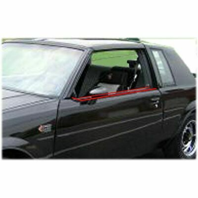 Inner & Outer Window Sweep Felts Seals Weatherstrip 4 Piece Kit Set for Buick