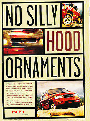 1999 Isuzu Trooper - Hood - Classic Vintage Advertisement Ad D185
