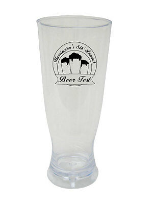 96 PERSONALIZED Beer Fest Oktoberfest Pilsner Glasses Custom NEW