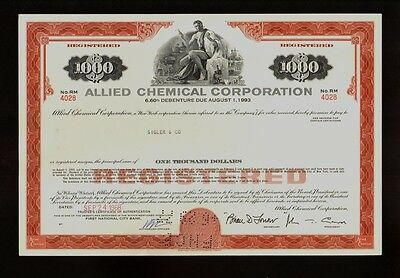 ALLIED CHEMICAL CORP Morristown NJ ( AlliedSignal Honeywell( issued to Sigler