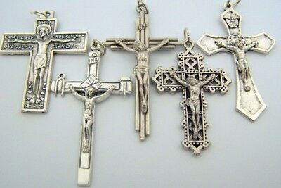 Unique Lot of 5! Holy Dove Nails in the Cross Crucifix Rosary Pectoral Medals