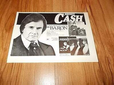 Johnny Cash-1981 magazine advert