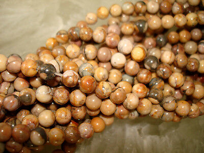 "Genuine Bubble Gum Jasper 6mm Round Bead 65 Quality Beads 16"" Strand"