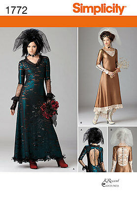 Simplicity 1772 Misses' Steampunk Edwardian Costume Pattern 4-12 or 12-20