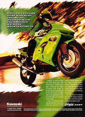 1997 Kawasaki Ninja ZX-9 Motorcycle - LB - Classic Vintage Advertisement Ad D190