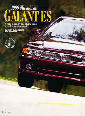 1999 Mitsubishi Galant ES - Road Test - Classic Article D190