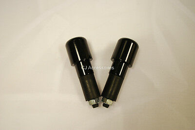 """Motorcycle Heavy Bar End Weights Bar Ends - Black Steel for 7/8"""" Steel Bars"""