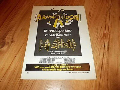 Def leppard-magazine advert