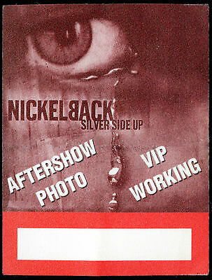 NICKELBACK 2001 Silver Side Up Concert Tour Backstage Pass!!! Authentic Original