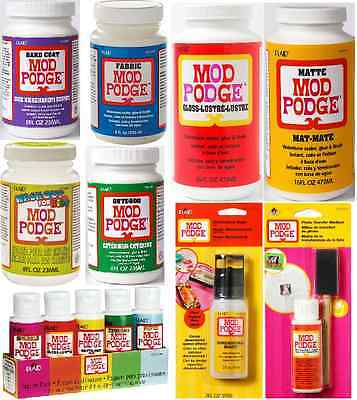 Mod Podge Glue Sealer Varnish In Mat Gloss Satin Outdoor Sparkle Glitter Finish