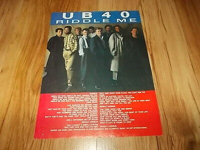 UB40-1984 magazine advert