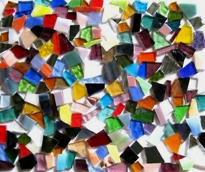 1 KILO Mixed Colors precut STAINED GLASS Mosaic Pieces