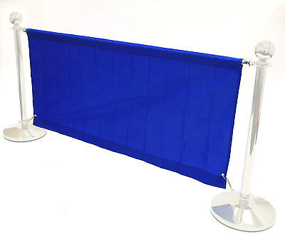 1.6 meter blue banners for our cafe barrier systems, shop banners, cafe banners