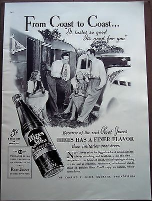"vintage 1937 soda Ad Hires Root Beer ""It tastes so good It's good for you"""
