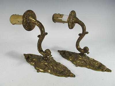 Great French Pair of Bronze Wall Sconces - 8585