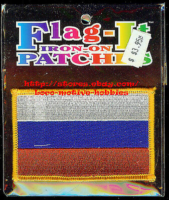 LMH Patch Woven Badge SLOVAKIA RUSSIA FLAG Iron-On Slovakian White Blue Red Bars