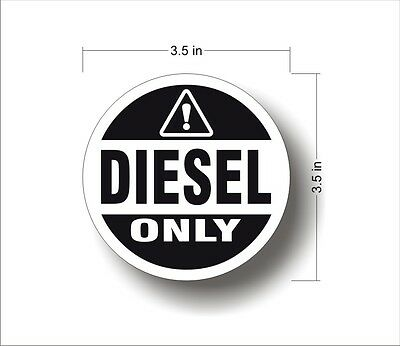 Industrial Highway Vehicle Safety Decal Sticker DIESEL ONLY warning label